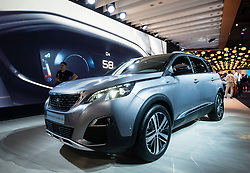 New Peugeot 5008 SUV at world premiere launch at Paris Motor Show 2016