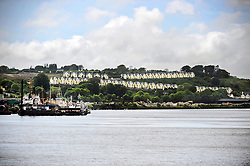 A view across Rice Bridge in Waterford, Ireland.