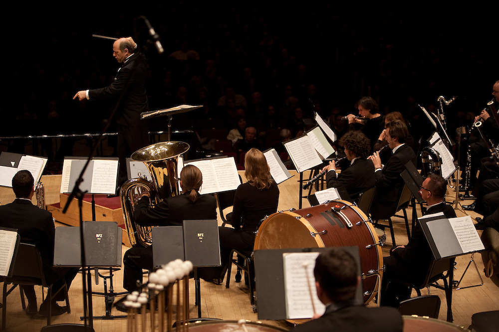 Music Director and Conductor Ivan Fischer performing Bartok Hungarian Peasant Songs with the Budapest Festival Orchestra at Carnegie Hall in Manhattan, NY on October 29, 2011.