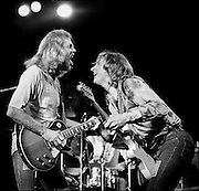 Joe Walsh, right and Don Felder, left, perform with Eagles at the Honolulu International Center Arena in 1976.  The Honolulu International Center (HIC) has now been re-named the Neil Blasidall Arena.   ©PF Bentley/PFPIX.com
