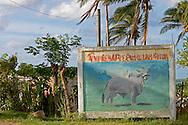 Farm sign in Bahia Honda, Artemisa, Cuba.