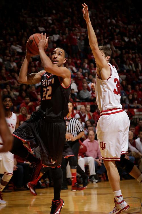 Eastern Washington guard Drew Brandon (22) as Eastern Washington played Indiana in an NCAA college basketball game in Bloomington, Ind., Monday, Nov. 24, 2014. (AJ Mast)