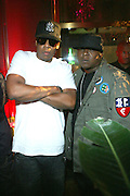 l to r: Jay Z and Jadakiss at the Robin Thicke?s Album Release ' Something Else' with Exclusive Event at Rainbow Room sponsored by Target on September 20, 2008 in New York City.