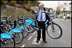 DEC 13 2013 Boris Johnson expends Barclays Cycle Hire