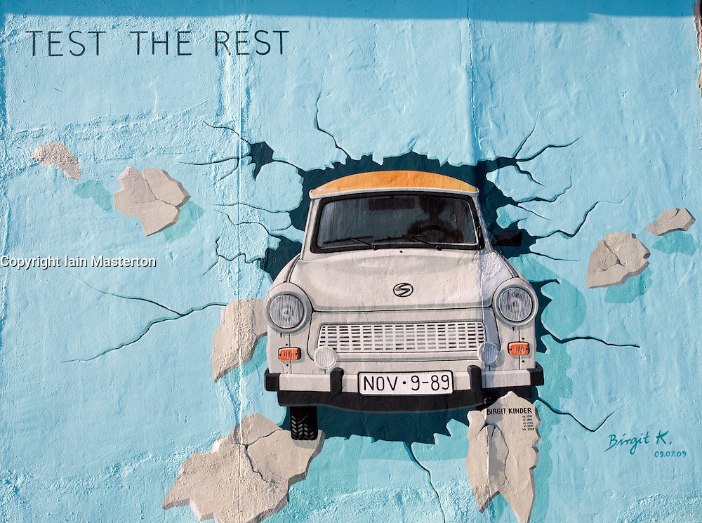 Painting Of The Iconic East German Trabant Car On The