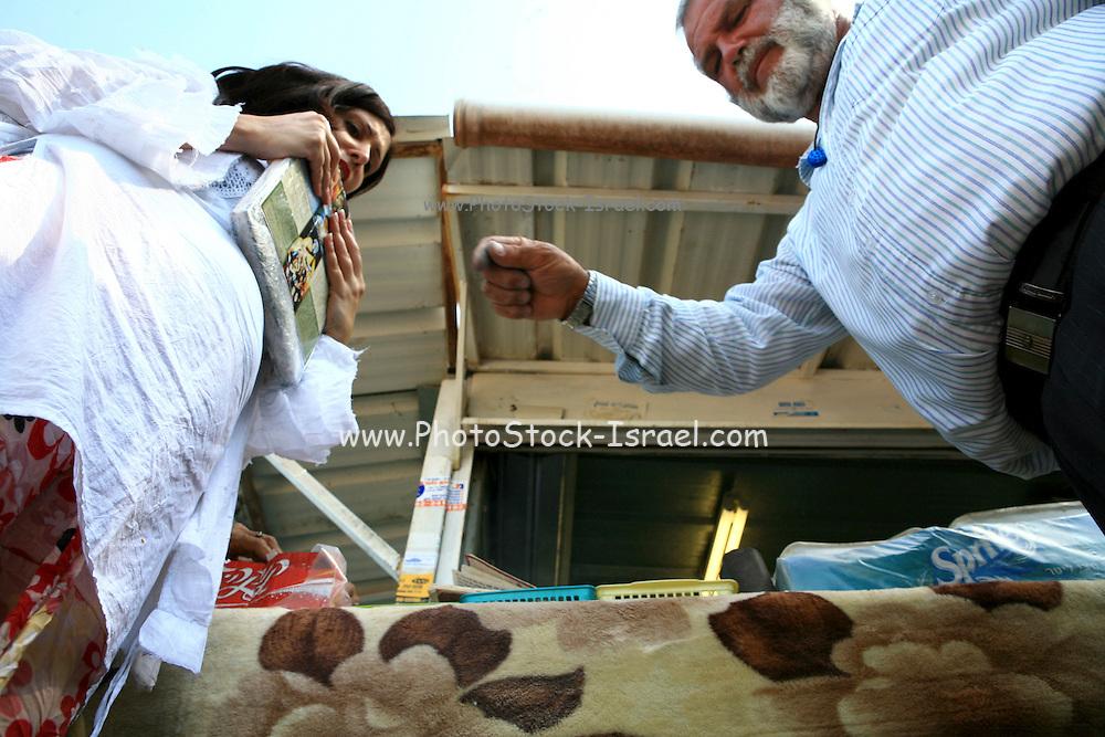 Israel, Galilee, Tiberias, Evil Eye exorcism ceremony is conducted at the tomb of Rabbi Meir (Reb Meir Baal HaNes)