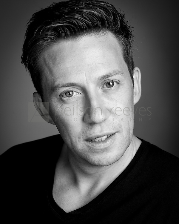 Tam Ryan Opera house favourite Actor Headshot in Black and White