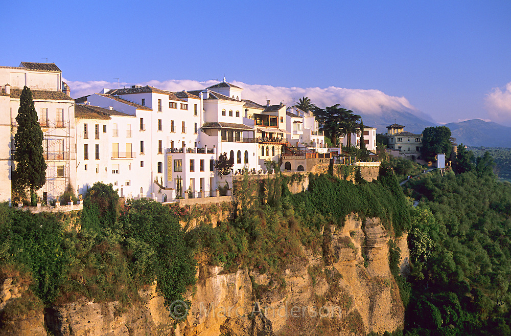 Ronda, a beautiful town on the edge of a deep gorge & cliff in Andalucia, Spain