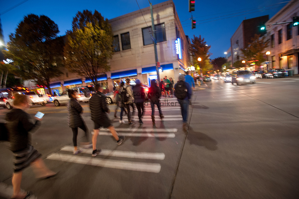 2016 October 10 - Intersection of 45th and University Way in the University District, Seattle, WA, USA. By Richard Walker