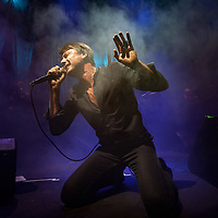 Brett Anderson of Suede live at the Roundhouse in London on 14 November 2015. The band presented live as a world premiere their new album titled Night Thoughts, out on Jan 2016.<br />