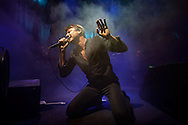 Brett Anderson of Suede live at the Roundhouse in London on 14 November 2015. The band presented live as a world premiere their new album titled Night Thoughts, out on Jan 2016.<br /> <br /> This photo was published on the Evening Standard on 16 nov 2015 http://www.standard.co.uk/goingout/music/suede-tour-review-back-to-the-nineties-with-a-bang-a3115386.html<br /> <br /> and the Daily Telegraph on 4 April 2016<br /> http://www.telegraph.co.uk/music/what-to-listen-to/the-best-albums-of-2016/