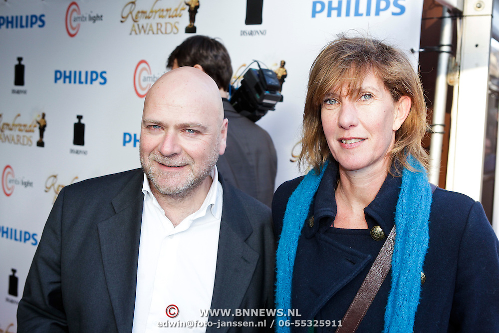 NLD/Amsterdam/20120312 - Uitreiking Rembrandt Awards 2012, Nicole van Kilsdonk en partner