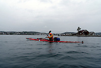 Passing Lillesand by kayak