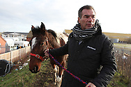 Irish Traveller and UK TV celebrity Paddy Doherty, on the site where he lives in Queensferry, North Wales, January 2012