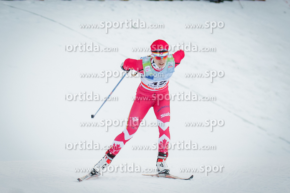 Cendrine Browne (CAN) during Ladies 1.2 km Free Sprint Qualification race at FIS Cross<br /> Country World Cup Planica 2016, on January 16, 2016 at Planica,Slovenia. Photo by Ziga Zupan / Sportida
