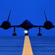 SR-71 on runway