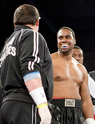 February 9, 2007 - Selden, NY - Eddie Chambers stops Derric Rossy by 7th round TKO on ESPN2's Friday Night Fights at Suffolk Community College in Selden, NY.