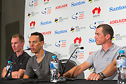 Media Conference with (L-R)Tom-Jelte Slagter (Cannondale - Drapac Pro Cycling Team), Richie Porte (BMC Racing Team), Simon Gerrans (ORICA-SCOTT),  Tour Down Under, Australia on the 14 of January 2017 ( Credit Image: © Gary Francis / ZUMA WIRE SERVICE )