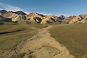 Alaska Range from Polychrome, Denali National Park, Alaska. Digital original  ©Robin Brandt  #2007_4638