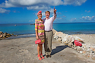 19-11-2013 CURACAO –  Willem Alexander of the Netherlands and Queen Maxima at Curacao Visit to the fishing pier at West Point . They will visit all the 6 Dutch Islands. The royal couple will visit the Caribbean . COPYRIGHT ROBIN UTRECHT