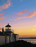 West Point Lighthouse marks the northern extent of Elliott Bay in Puget Sound. (Benjamin Benschneider / The Seattle Times)