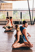 Yoga session at Roam community, Ubud. A global network of communal living spaces.