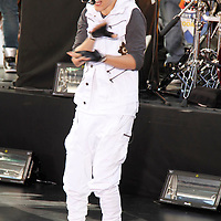 Justin Bieber performing on the plaza at Rockefeller center on June 15, 2012 on The Today Show...Photo Credit ; Rahav Segev/ Retna Ltd