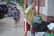 Students begin moving into dorms at the University of Mississippi in Oxford, Miss. on Wednesday, August 17, 2011. Classes for the fall semester begin Monday, August 22, 2011.