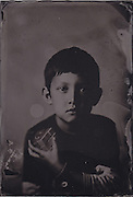 Eddie Chow, tintype portrait made with wetplate collodion process.