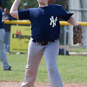 04/14/12 Newark Del. Yankees third basemen Kenny Weir #5 throws to first base in the second inning of a Canal L.L. League game against the Angels Saturday, April. 14, 2012 at Canal L.L. Complex in Bear Delaware...Special to The News Journal/SAQUAN STIMPSON