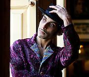 UK ENGLAND LONDON 13JAN05 - Musician Kad Achouri promo shoot for 'Societe' Album, Union Club, Soho, London.<br /> Photography by Jiri Rezac<br /> Tel 0044 07947 884 517<br /> www.linkphotographers.com