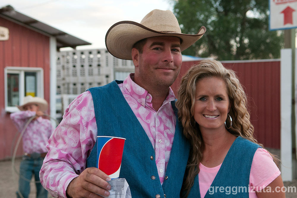 Wayne and Hollly Stepleton at the Vale 4th of July Rodeo on July 2, 2016 in Vale, Oregon.