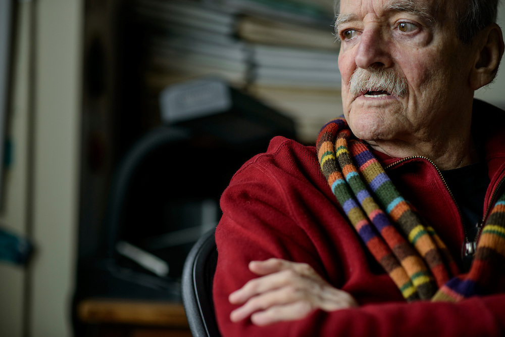 """Photo by Matt Roth..Writer William """"Bill"""" McPherson is photographed in and around his apartment in Washington, D.C. on Thursday, December 20, 2012. His book """"Testing the Current"""" is being rereleased by the New York Review of Books. It was originally released by Simon & Schuster in 1984."""