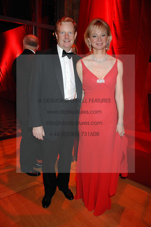 The EARL &amp; COUNTESS OF DERBY at a dinner held at the Natural History Museum to celebrate the re-opening of their store at 175-177 New Bond Street, London on 17th October 2007.<br />