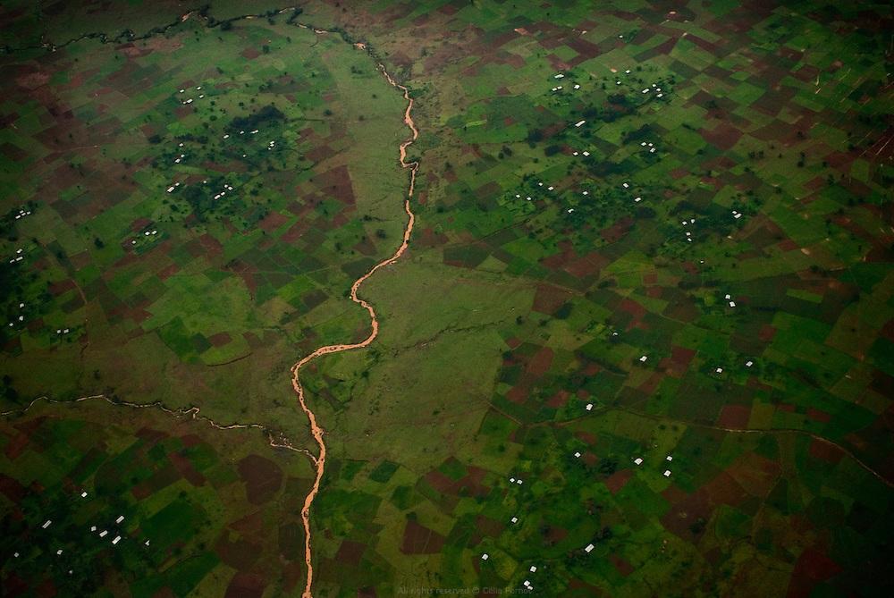 Le Nil Bleu entre Bahar Dar et Addis Abeba. Éthiopie août 2011.