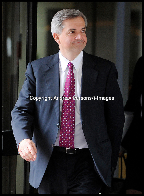 Former Cabinet Minister Chris Huhne leaves Southwark Crown Court after a pre-trial hearing on June 1, 2012 in London, England. Mr Huhne and his former wife Vicky Pryce are charged with perverting the course of justice over a 2003 speeding offense. Today Vicky Pryce denied perverting the course of justice by taking a speeding penalty for her former husband. Friday June 1, 2012.  Photo By Andrew Parsons/i-Images
