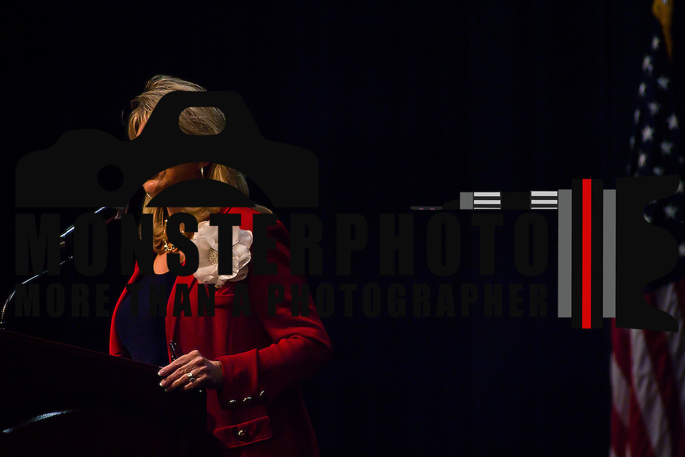 02/18/12 Dover DE: Republican National Committee keynote speaker Co-Chairman Sharon Day addresses the attendees of Grand Old Party Lincoln Day dinner Sat. Feb. 18, 2012 during Delaware Republicans annual fundraiser for the Delaware GOP at Dover Downs Conference Center in Dover Delaware...Special to The News Journal/SAQUAN STIMPSON