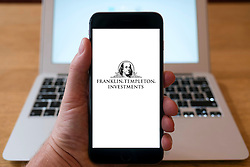 Franklin Templeton Investments fund manager logo on smart phone screen.