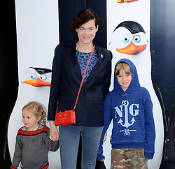 Jasmine Guiness, Ruby and Arthur attends Penguins of Madagascar Multimedia Screening at Vue West End, Leicester Square, London on Saturday 29th   November 2014