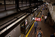 The 181Street subway stop in New York, NY on June 23, 2012.