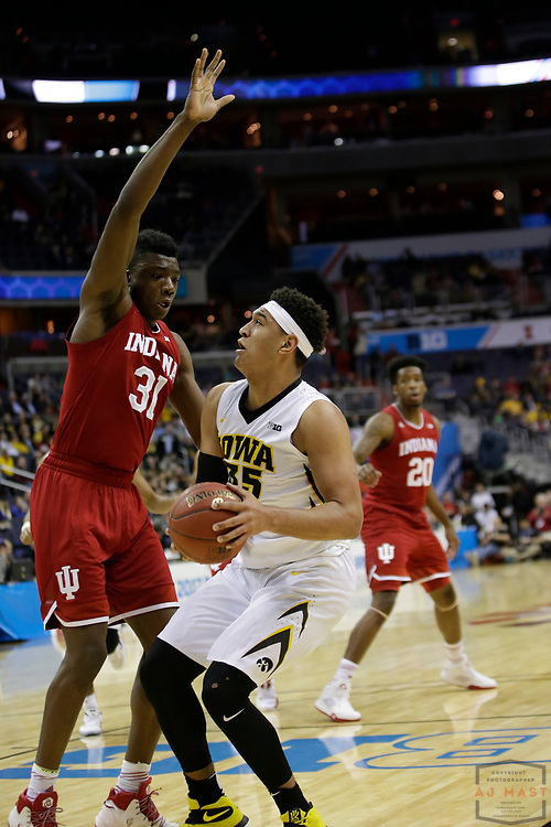 Iowa forward Cordell Pemsl (35) in action as Indiana played Iowa in an NCCA college basketball game in the second tournament in Washington, D.C., Thursday, March 9, 2017. (Photo by AJ Mast)