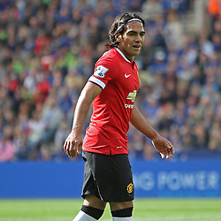Manchester United's Radamel Falcao during the Barclays Premiership match between Leicester City FC and Manchester United FC, at the King Power Stadium, Leicester, 21st September 2014 © Phil Duncan | SportPix.org.uk