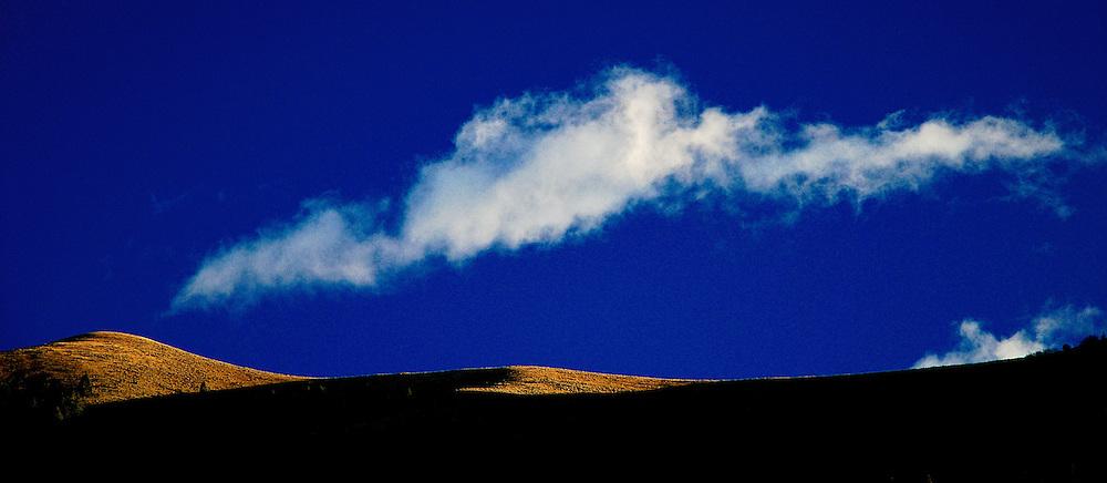 IDAHO. Ketchum Sun Valley. Clouds over Hills.