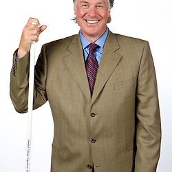 Tampa Bay Lightning head coach Barry Melrose poses for a photo shoot at the St. Pete Times Forum in Tampa, Florida June 26, 2008. TAMPA BAY LIGHTNING Photo/Scott Audette