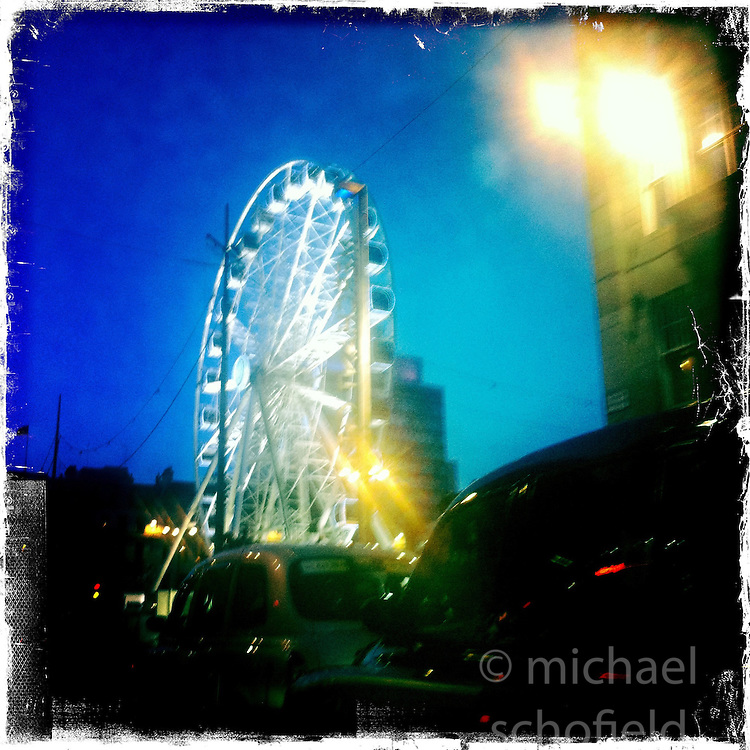 Glasgow Christmas lights..Hipstamatic images taken on an Apple iPhone..©Michael Schofield.