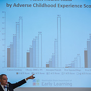 Ross Hunter, director of the state's Department of Early Learning, speaks at Early Childhood Leadership Summit Oct. 19. (Gonzaga photo)