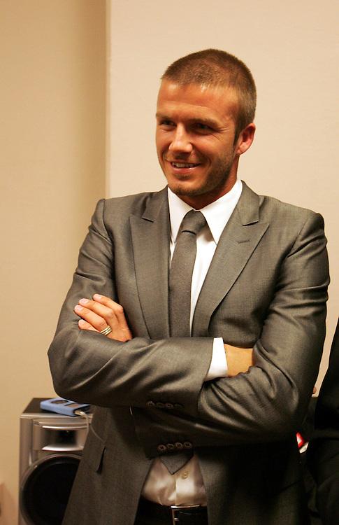David Beckham supports Ricky Hatton in the changing room. Ricky Hatton v Floyd Mayweather, Las Vegas, Nevada.