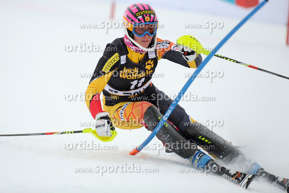 07.12.2012, Engiadina Rennstrecke, St. Moritz, SUI, FIS Ski Alpin Weltcup, Super Combination, Damen, Slalom, im Bild, Marie-Michele Gagnon (CAN), in action // during Slalom of ladies Super Combined of FIS ski alpine world cup at the Engiadina course, St. Moritz, Switzerland on 2012/12/07. EXPA Pictures © 2012, PhotoCredit: EXPA/ Freshfocus/ Urs Lindt..***** ATTENTION - for AUT, SLO, CRO, SRB, BIH only *****