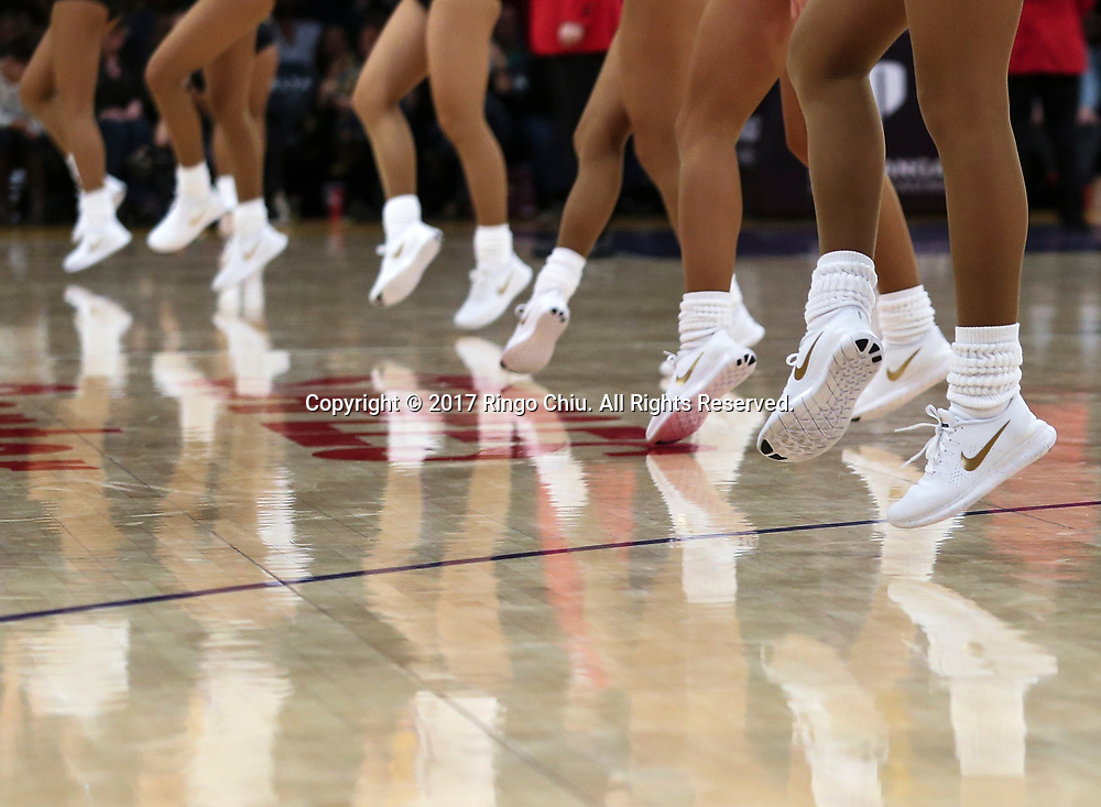 Lakers girls performs during an NBA basketball game against Milwaukee Bucks, Friday, March 17, 2017.(Photo by Ringo Chiu/PHOTOFORMULA.com)<br /> <br /> Usage Notes: This content is intended for editorial use only. For other uses, additional clearances may be required.