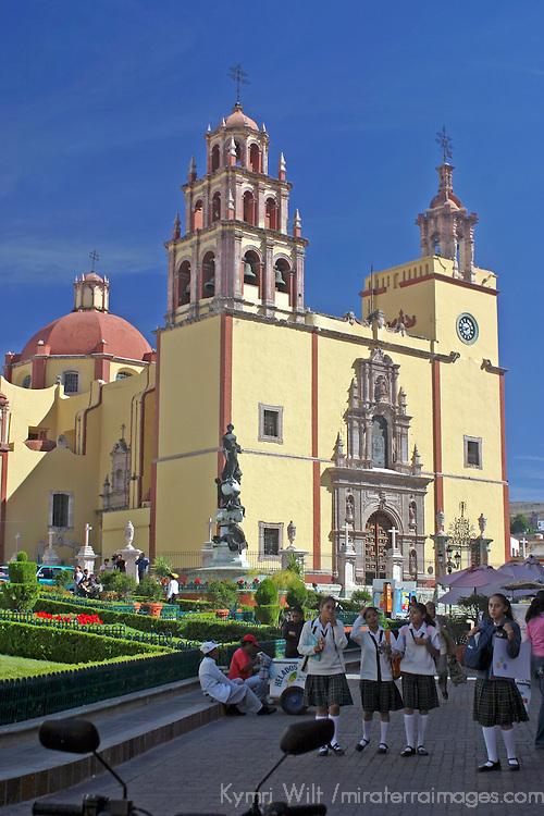 Americas, Mexico, Guanajuato. Basilica of Our Lady of Guanajuato. The city of Guanajauto is a UNESCO World Heritage Site.